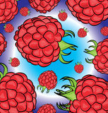 Raspberry pattern Royalty Free Stock Images
