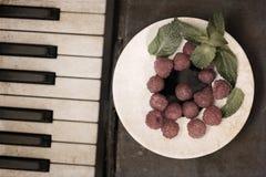raspberry, piano Stock Photo