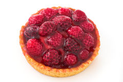 Raspberry pie. Sweet food with berry fruits Royalty Free Stock Photos