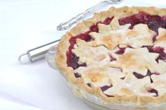 Raspberry Pie Served Stock Photography