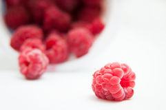 Raspberry and the pile Stock Photos