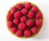 Raspberry and pistachios tart cake Stock Photo
