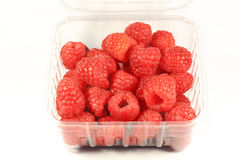 Raspberry in a plastic package Stock Photography