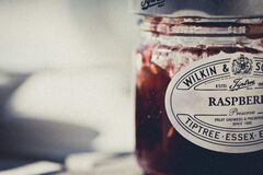 Raspberry preserves  Royalty Free Stock Images