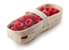 Raspberry in the punnet Stock Photography