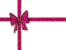 Raspberry ribbon and bow Royalty Free Stock Photo