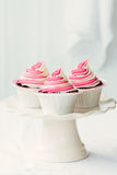 Raspberry ripple cupcakes Royalty Free Stock Image
