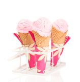 Raspberry Ripple Ice Creams Stock Image