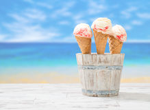 Raspberry Ripple Icecream Royalty Free Stock Photos