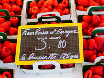 Raspberry on sale in the Cours Saleya Royalty Free Stock Images
