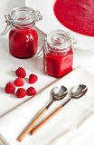 Raspberry sauce Stock Photo