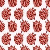 Raspberry seamless pattern Royalty Free Stock Photos