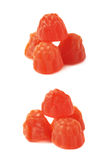 Raspberry shaped candy Royalty Free Stock Images