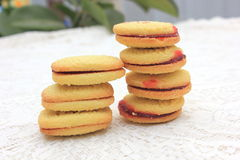 Raspberry shortcakes Stock Images