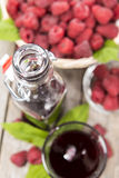 Raspberry Sirup Stock Photo