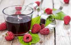 Raspberry Sirup in a glass Royalty Free Stock Images