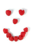 Raspberry smiley face Royalty Free Stock Images