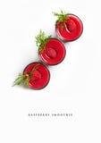Raspberry smoothie. Refreshing raspberry smoothie  background Stock Photo