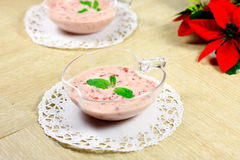 Raspberry smoothie Stock Images