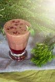 Raspberry smoothie with basil. Raspberry fresh smoothie with basil Stock Photos