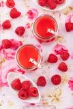 Raspberry smoothie Stock Photo