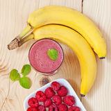 Raspberry smoothie Royalty Free Stock Photo