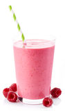Raspberry smoothie Royalty Free Stock Images