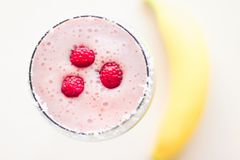 raspberry smoothie - healthy eating recipe styled concept royalty free stock image