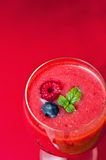 Raspberry smoothie Royalty Free Stock Image
