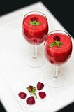 Raspberry smoothies Stock Image