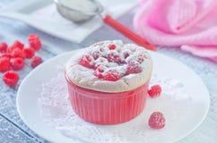 Raspberry souffle Royalty Free Stock Photography