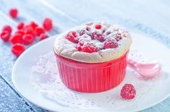 Raspberry souffle Stock Image