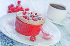 Raspberry souffle Stock Photography