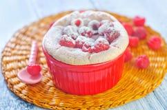 Raspberry souffle Royalty Free Stock Photo