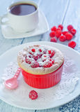 Raspberry souffle Royalty Free Stock Images