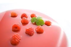 Raspberry soup Stock Photo