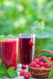 Raspberry and sour cherry juice Stock Photography