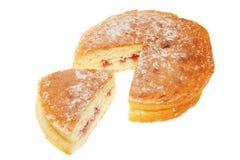 Raspberry Sponge Cake Royalty Free Stock Photos