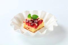 Raspberry sponge cake Stock Photos