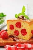 Raspberry sponge cake slice Royalty Free Stock Image