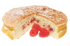 Raspberry Sponge With Berries Stock Photo