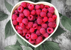 Raspberry for St. Valentines Day Stock Photo