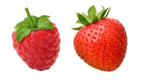Raspberry Strawberry stock photos