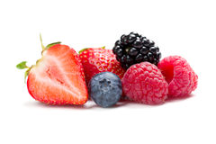 Raspberry, strawberry, blueberry and blackberry Royalty Free Stock Photos