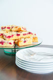 Raspberry Streusel Cake Royalty Free Stock Photography