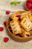 Raspberry Strudel Bites. Macro Stock Photography