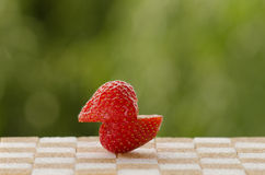 Raspberry on sugar Royalty Free Stock Image
