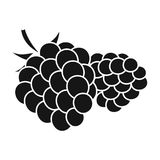 Raspberry, sweet fruit.Fruit single icon in black style vector symbol stock illustration web. Raspberry, sweet fruit.Fruit single icon in black style vector Royalty Free Stock Photography