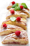 Raspberry sweet roll Royalty Free Stock Photos