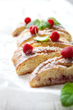 Raspberry sweet roll Stock Photos